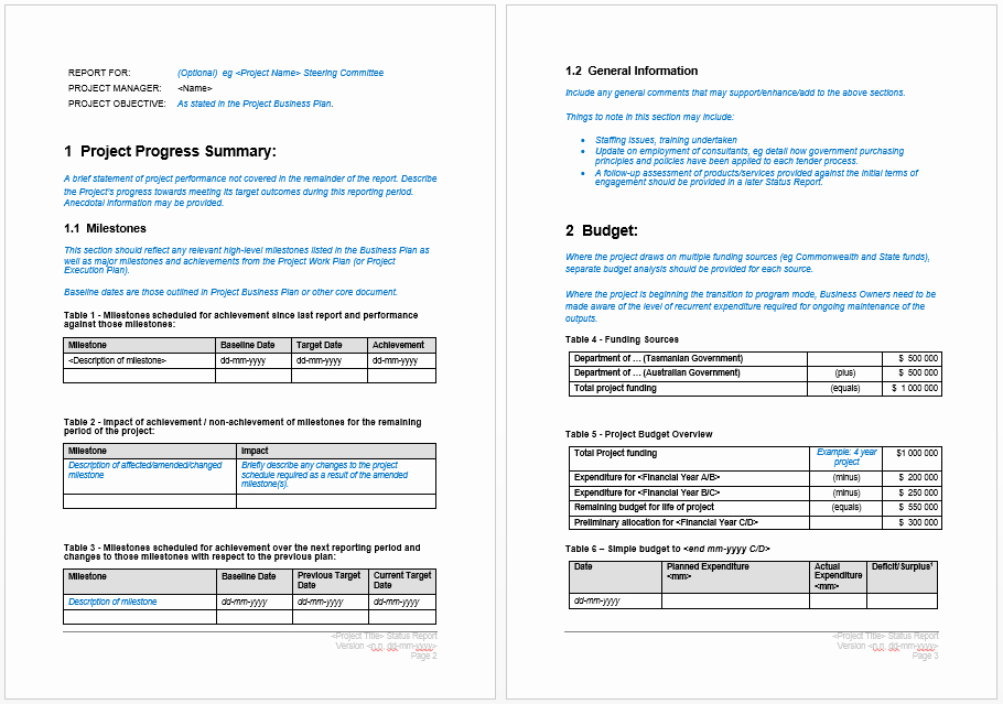 Project Report format In Word Inspirational Project Progress Report Template – Microsoft Word Templates