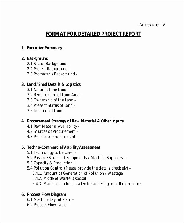 Project Report format In Word New 14 Sample Project Reports