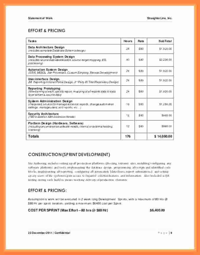 Project Statement Of Work Template Elegant 8 Project Statement Of Work