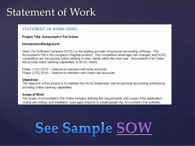 Project Statement Of Work Template Inspirational Project Management Class Based On Pmbok Day 3