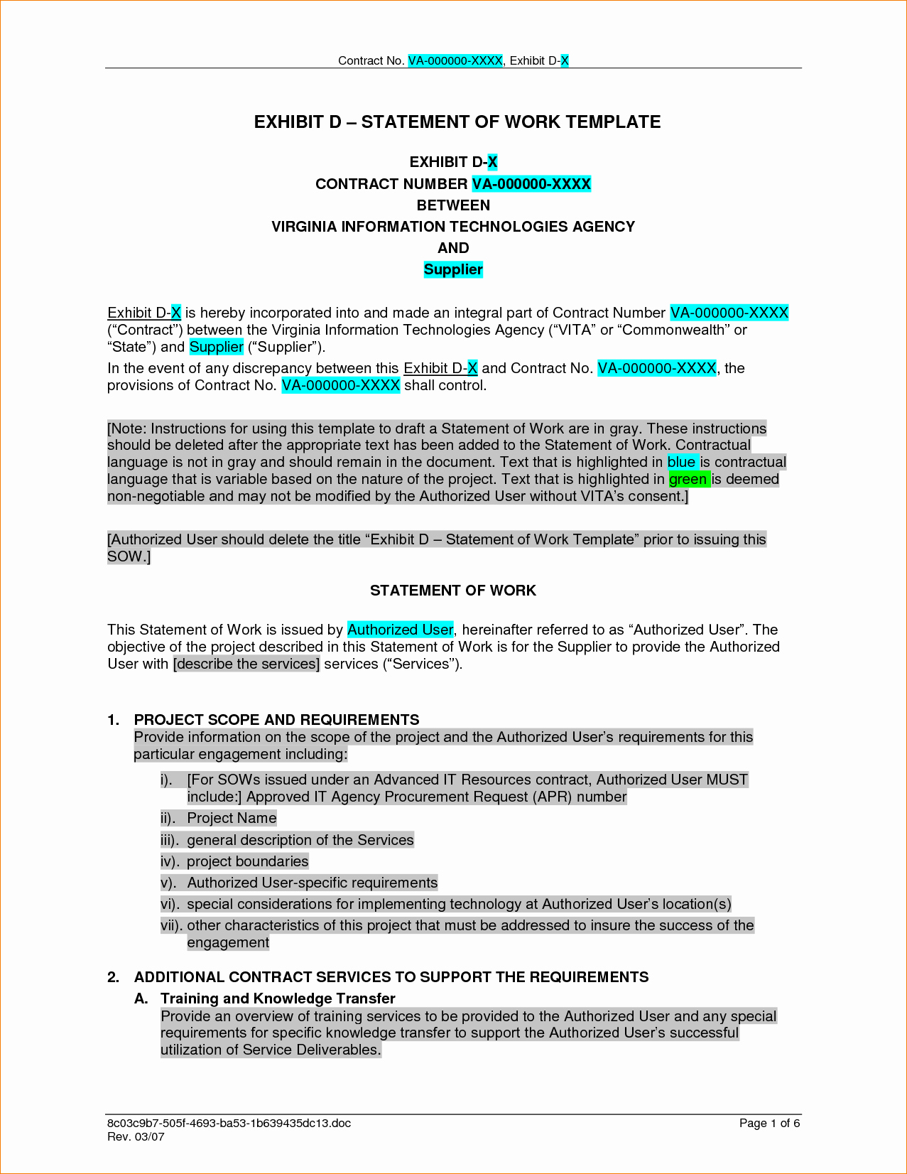 Project Statement Of Work Template Lovely 7 Work Contract Template