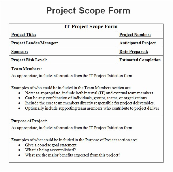 Project Statement Of Work Template New 8 Sample Project Scope Templates – Pdf Word