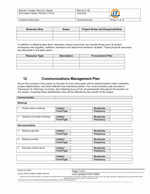 Project Statement Of Work Template New Statement Of Work Template
