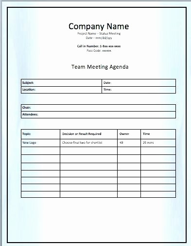 senior management meeting agenda example team case template c header project