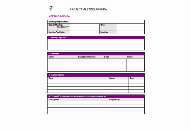 Project Team Meeting Agenda Template Luxury A Plete Guide to Making An Agenda