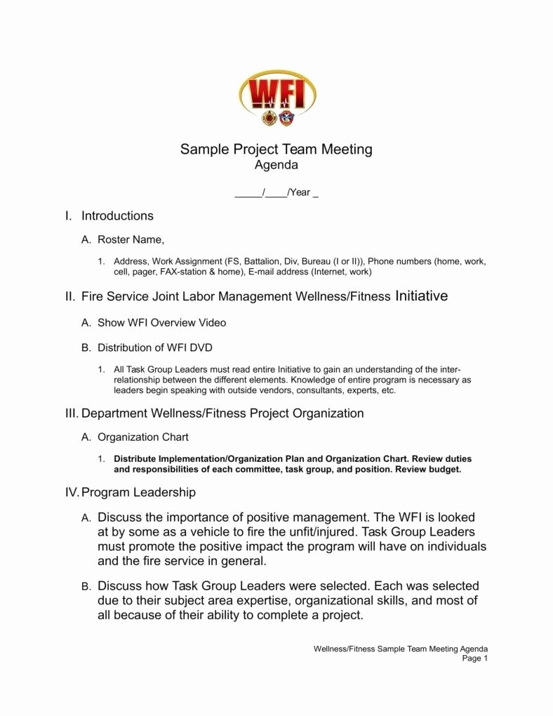 Project Team Meeting Agenda Template Unique 9 Tips On How to Lead Productive Team Meetings
