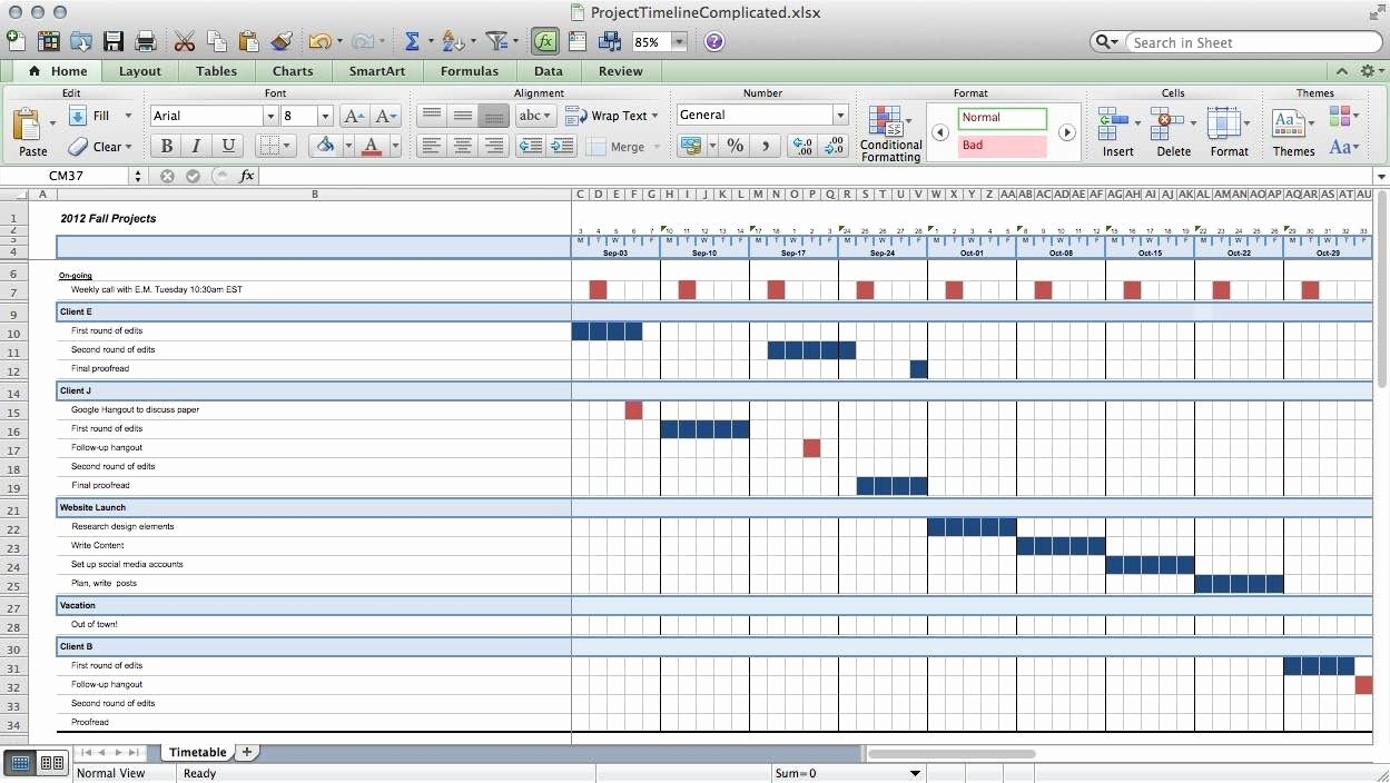 Project Timeline Template for Mac New Multiple Project Timeline Template Excel – Spreadsheet