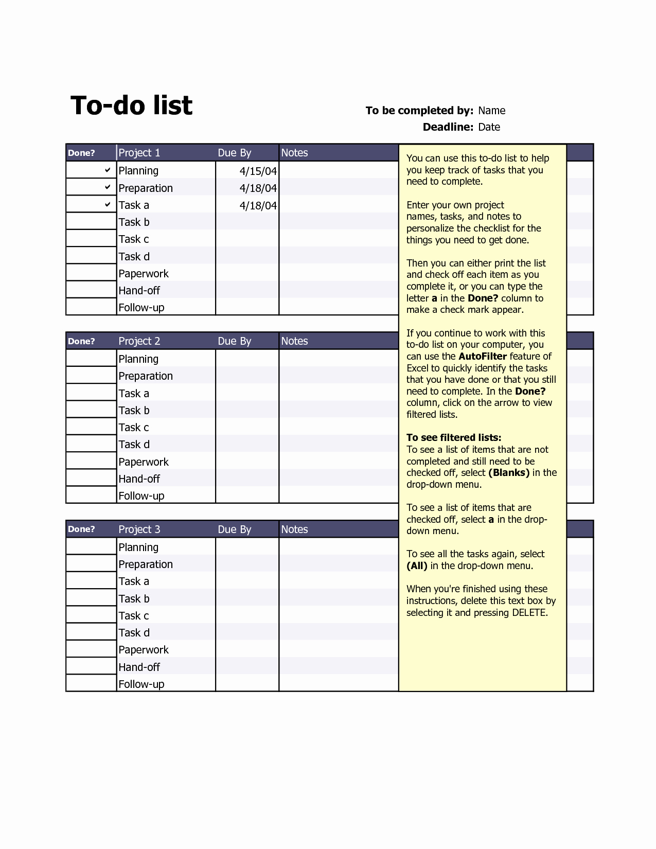 Project to Do List Excel Awesome Best S Of Excel Do List Template to Do Task List