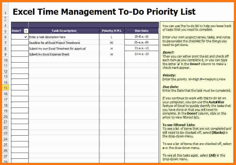 Project to Do List Excel Awesome Task List Template Excel Templates Data