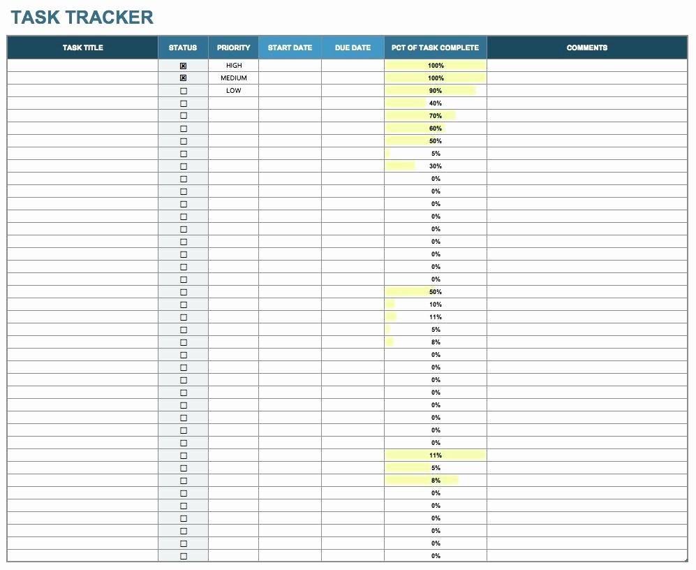 Project to Do List Excel Best Of Template Project to Do List Template Excel