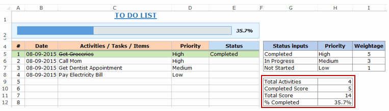 Project to Do List Excel New Excel to Do List Template [free Download]
