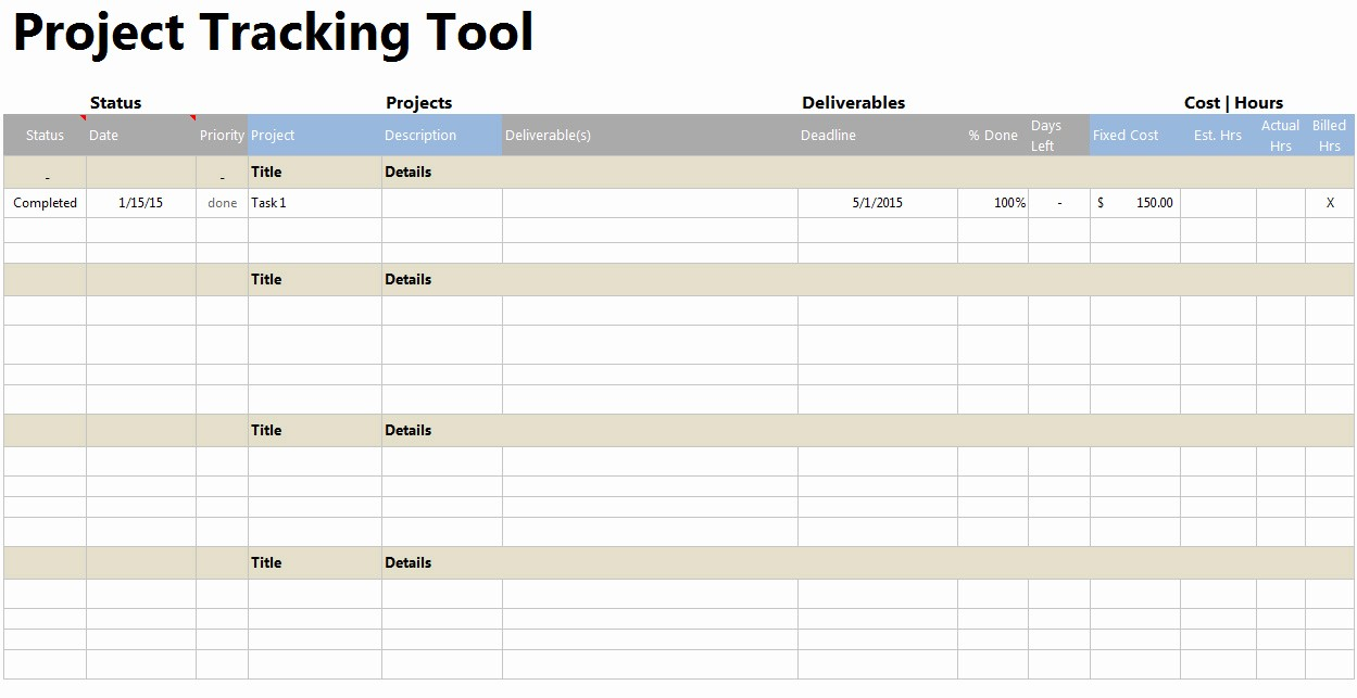 Project Tracking Template Excel Free Best Of Project Tracker tool