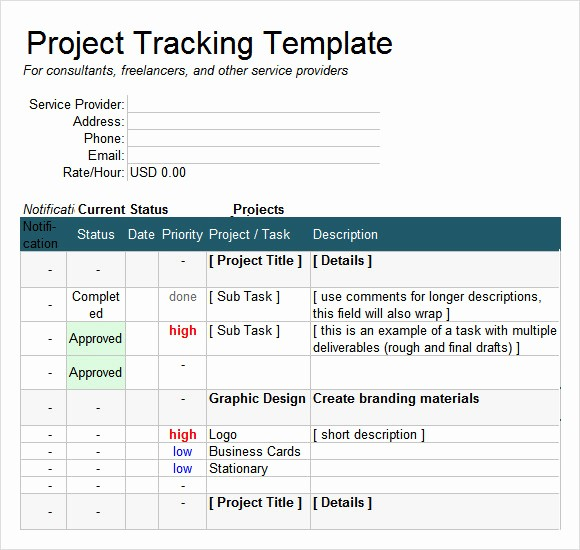 Project Tracking Template Excel Free Elegant Excel Tracking Template 7 Free Download for Excel