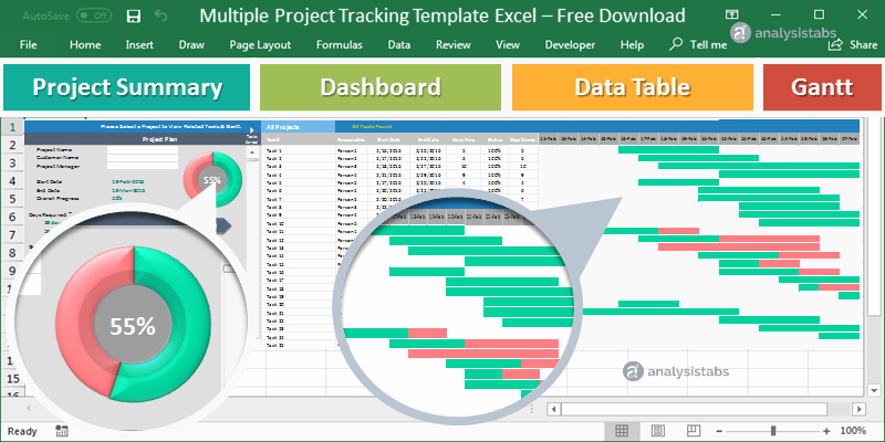 Project Tracking Template Excel Free Inspirational Multiple Project Tracking Template Excel