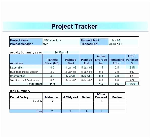 Project Tracking Template Excel Free Lovely Excel Task Tracker Medium Size Spreadsheet Task