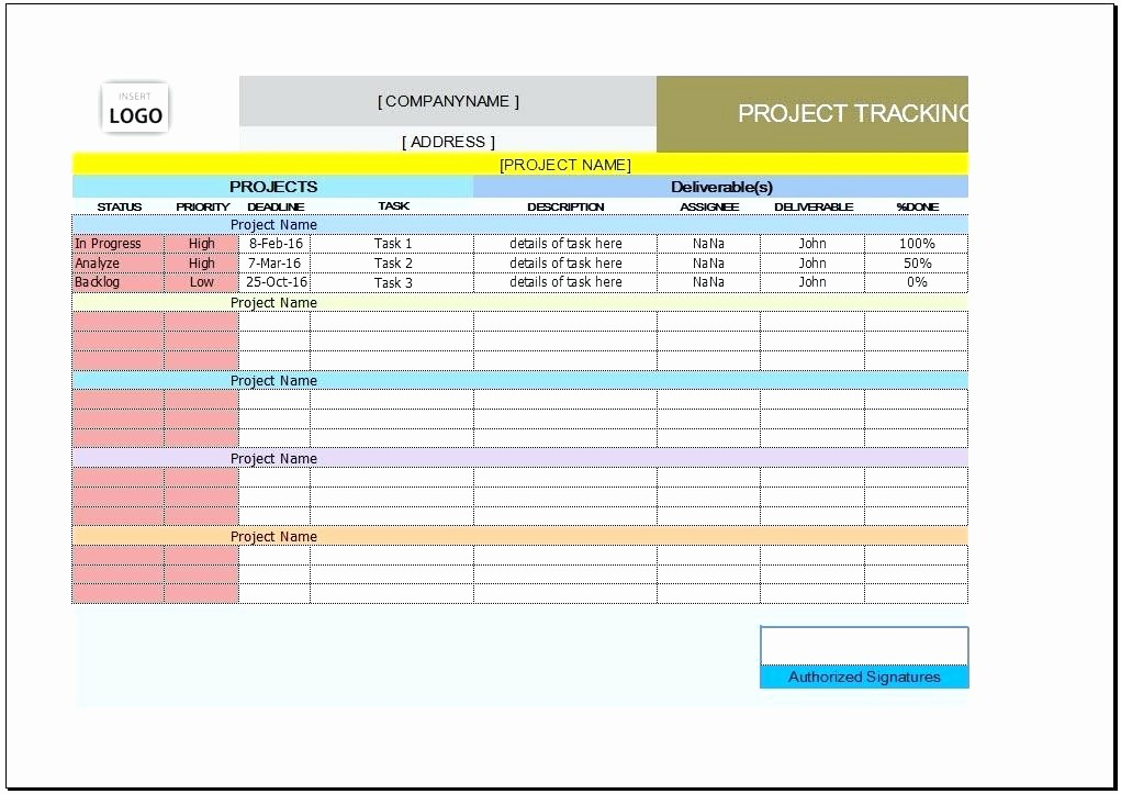 Project Tracking Template Excel Free Lovely Project Management Dashboard Excel Template Free – Amandae