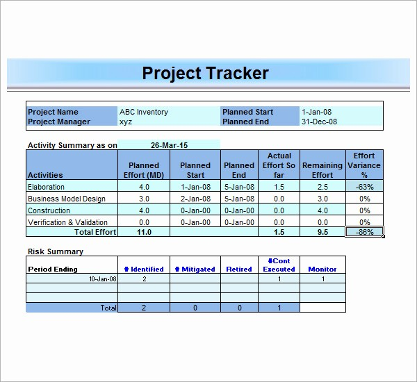 Project Tracking Template Excel Free Luxury 13 Sample Project Management Templates