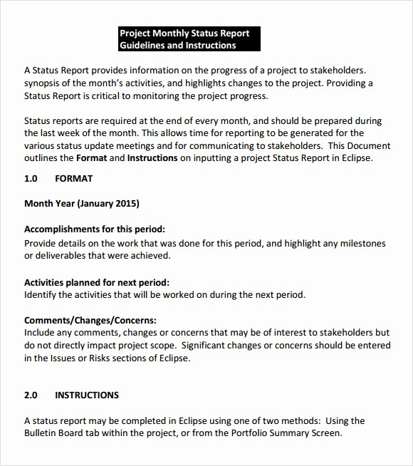 Project Weekly Status Report Template Elegant 8 Status Report Samples
