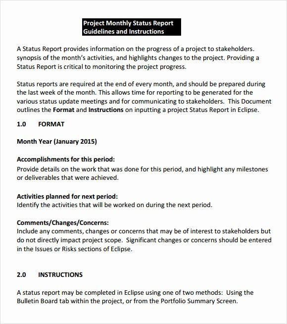Project Weekly Status Report Template Elegant 8 Status Report Samples