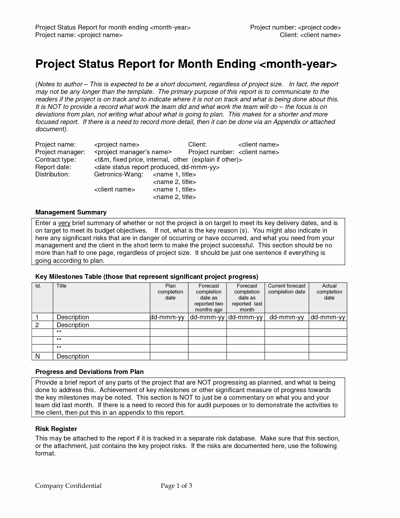 Project Weekly Status Report Template Elegant Best S Of Project Progress Report Examples Project