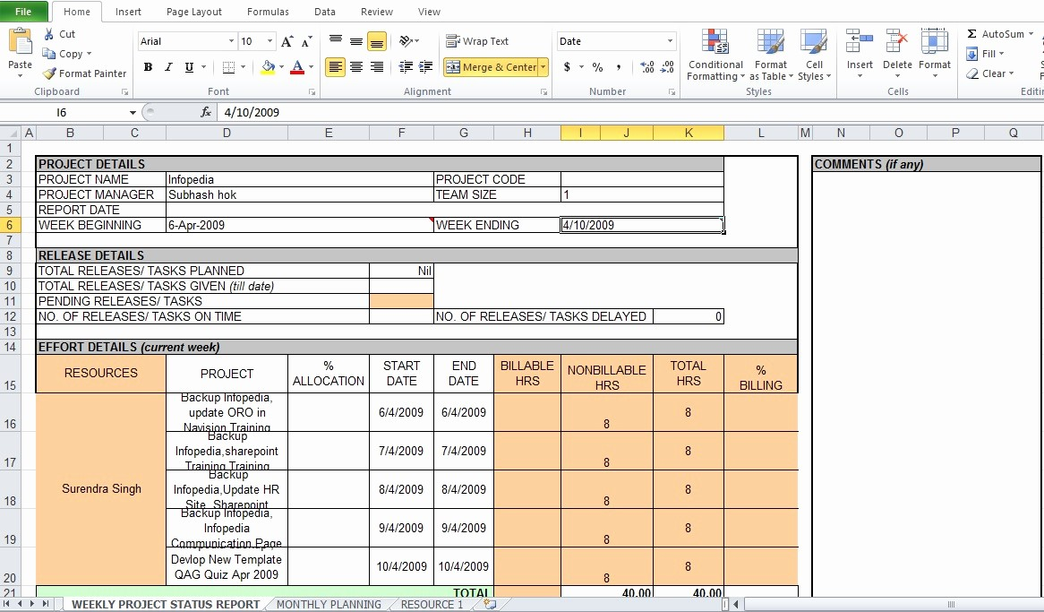 Project Weekly Status Report Template Fresh Weekly Project Status Report Template Excel Tmp
