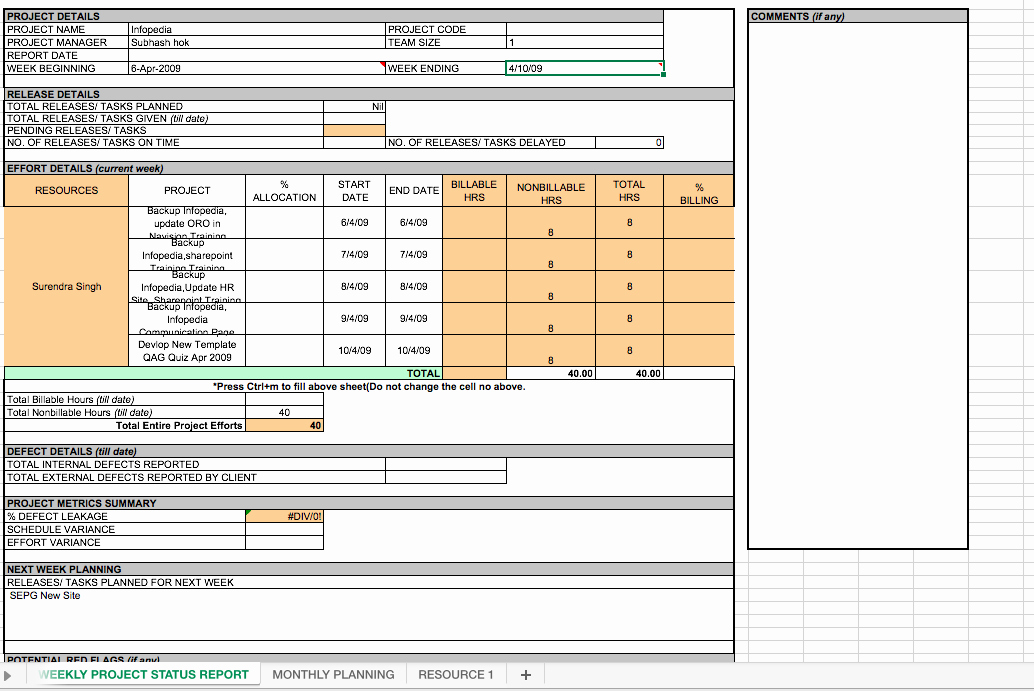 Project Weekly Status Report Template Inspirational Weekly Project Status Report Template Excel