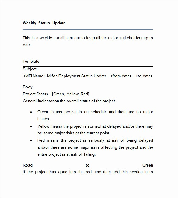 Project Weekly Status Report Template Luxury Weekly Status Report Templates 27 Free Word Documents