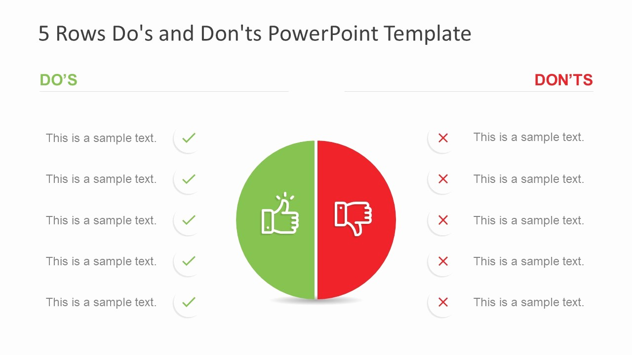 Pros and Cons Analysis Template Beautiful Free Do S and Don Ts Powerpoint Template Slidemodel