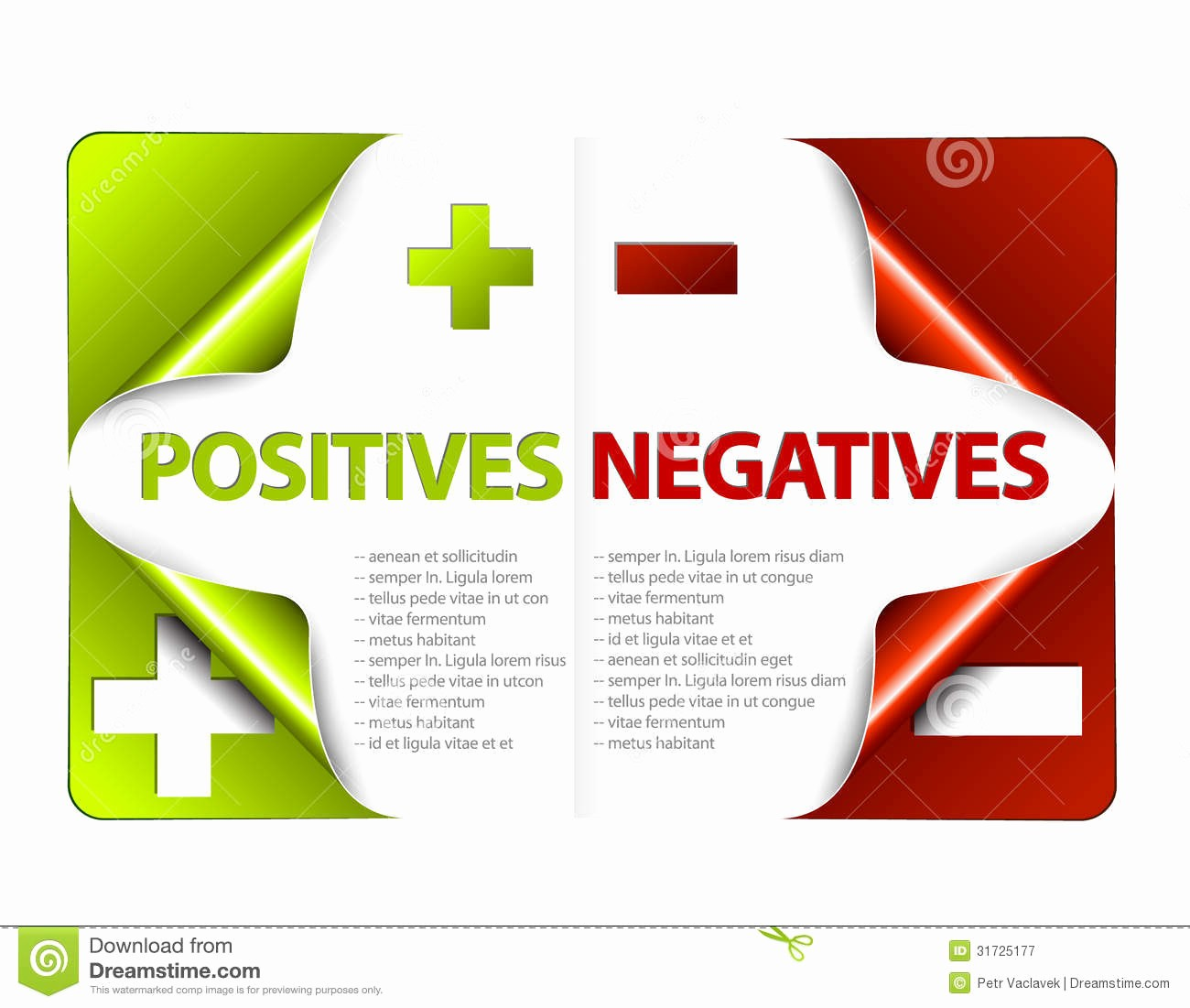 Pros and Cons Analysis Template Beautiful Vector Pros and Cons Pare Template Stock Illustration