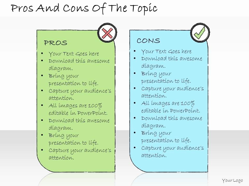 Pros and Cons Analysis Template Fresh 1013 Business Ppt Diagram Pros and Cons the topic