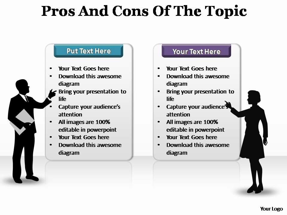 Pros and Cons Analysis Template Luxury Pros and Cons Of the topic Editable Powerpoint Templates