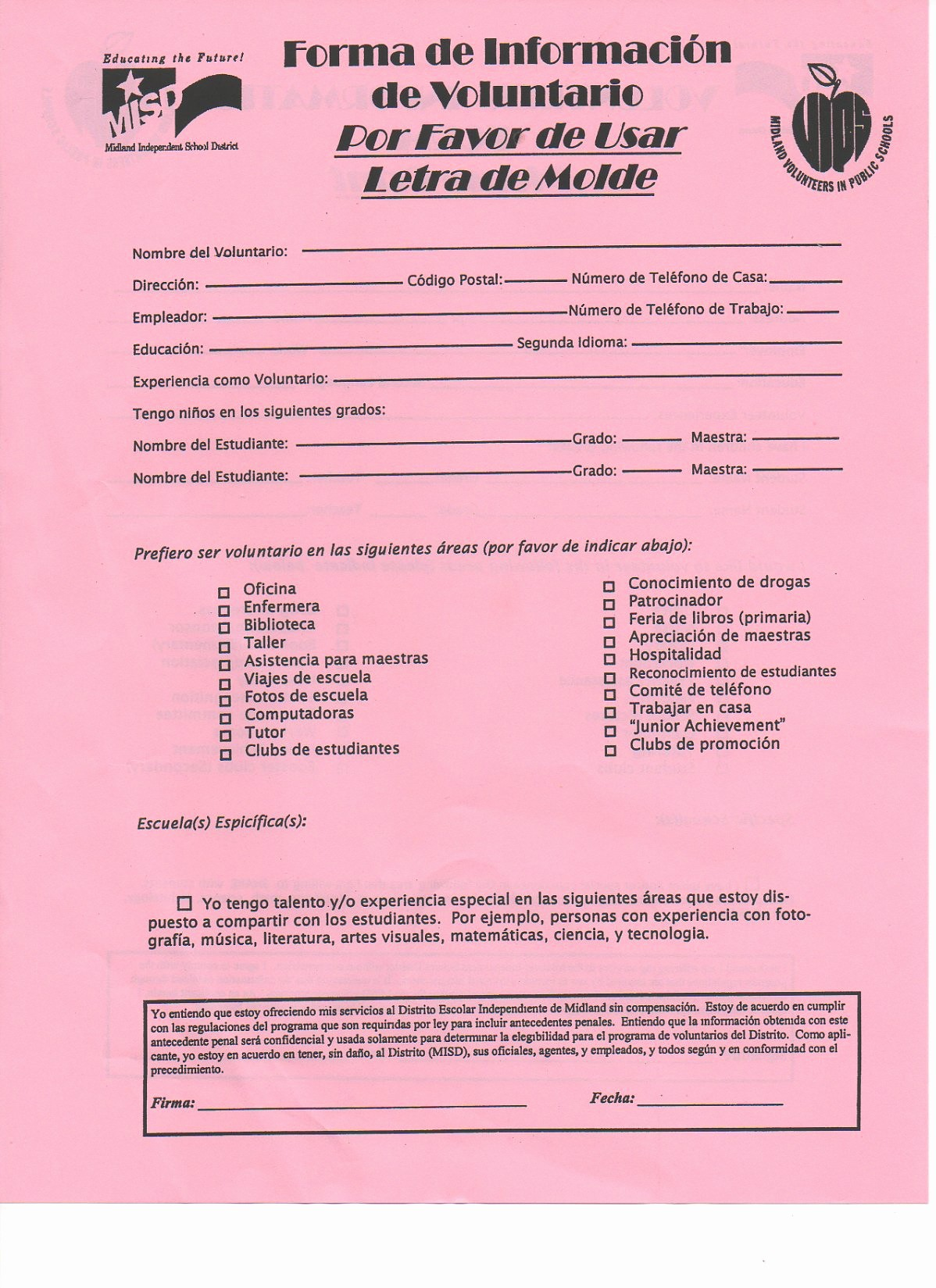 Pta Meeting Sign In Sheet Elegant Pta Volunteer forms & Hours Log