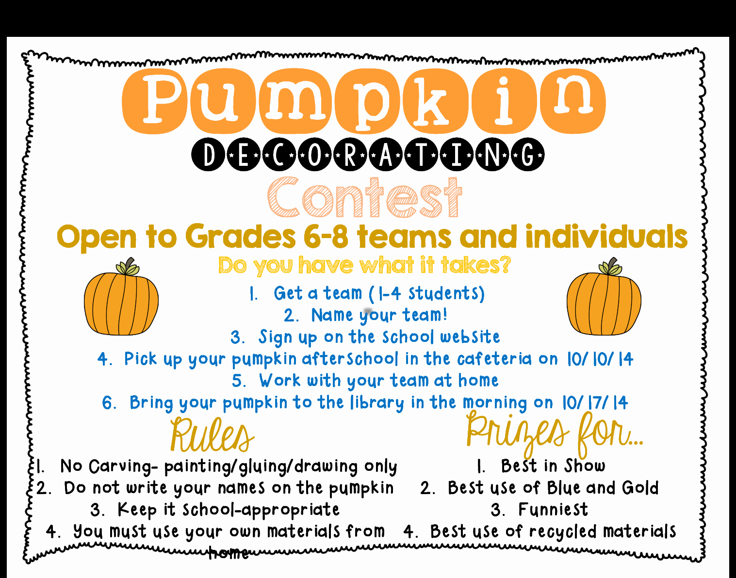 Pumpkin Carving Contest Flyer Template Beautiful How to Plan A Pumpkin Decorating Contest