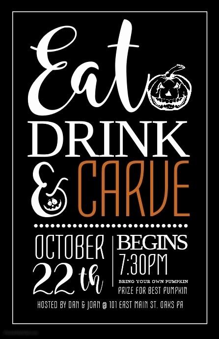Pumpkin Carving Contest Flyer Template Elegant Customize 2 430 Halloween Flyer Templates