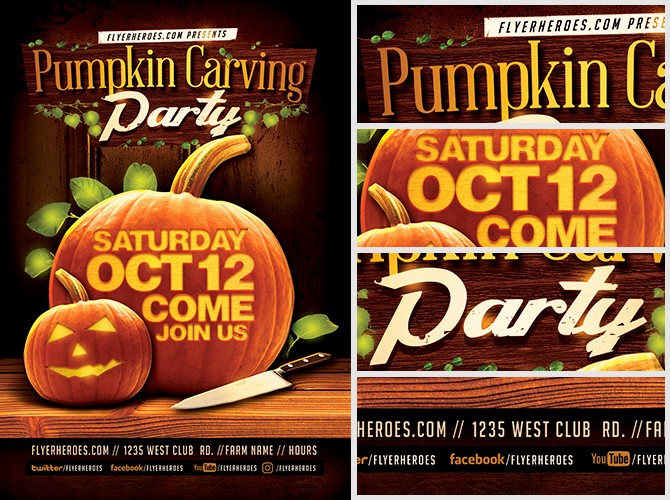 Pumpkin Carving Contest Flyer Template Elegant Fall Pumpkin Carving Flyer Template Flyerheroes