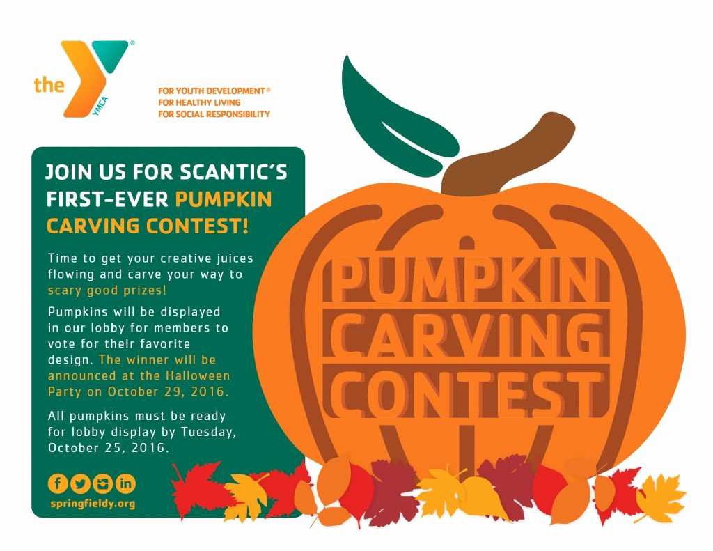 Pumpkin Carving Contest Flyer Template Elegant Scantic Valley Ymca – Pumpkin Carving Contestymca