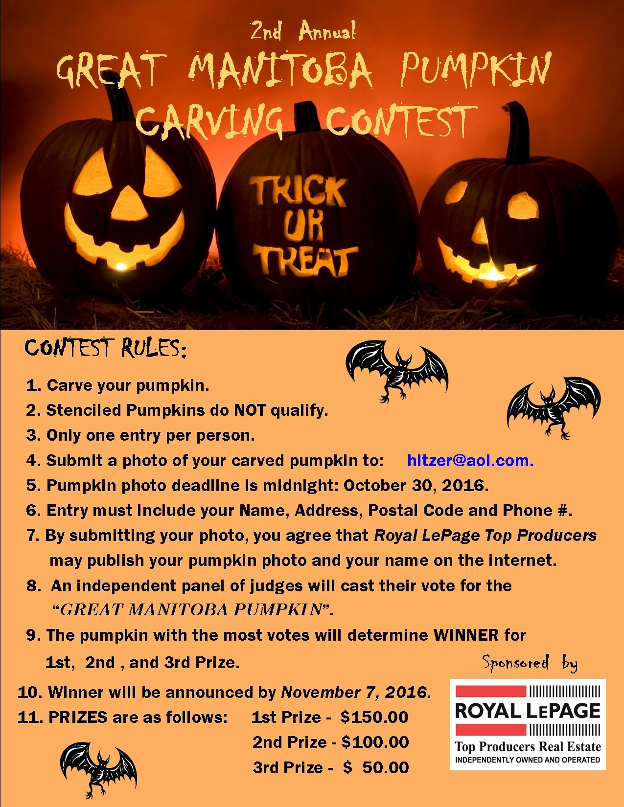 Pumpkin Carving Contest Flyer Template Fresh north Kildonan Real Estate