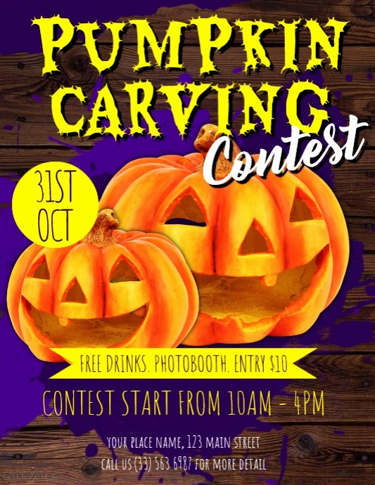 Pumpkin Carving Contest Flyer Template Fresh Pumpkin Carving Contest Flyer Template