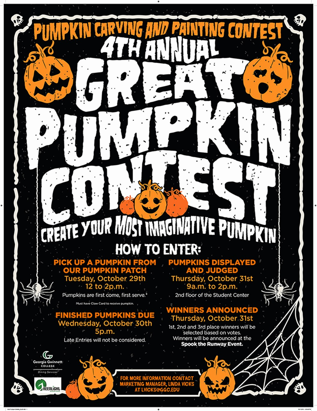 Pumpkin Carving Contest Flyer Template Luxury 4th Annual Great Pumpkin Contest
