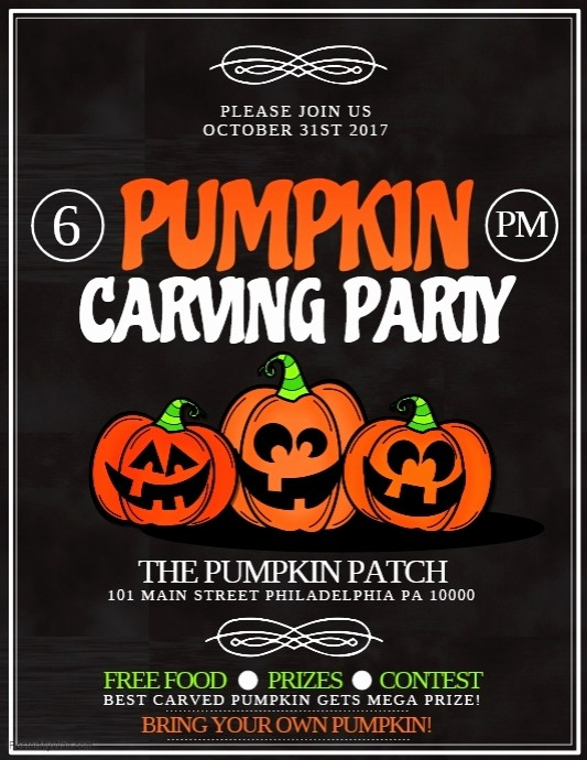 Pumpkin Carving Contest Flyer Template Luxury Pumpkin Carving Template
