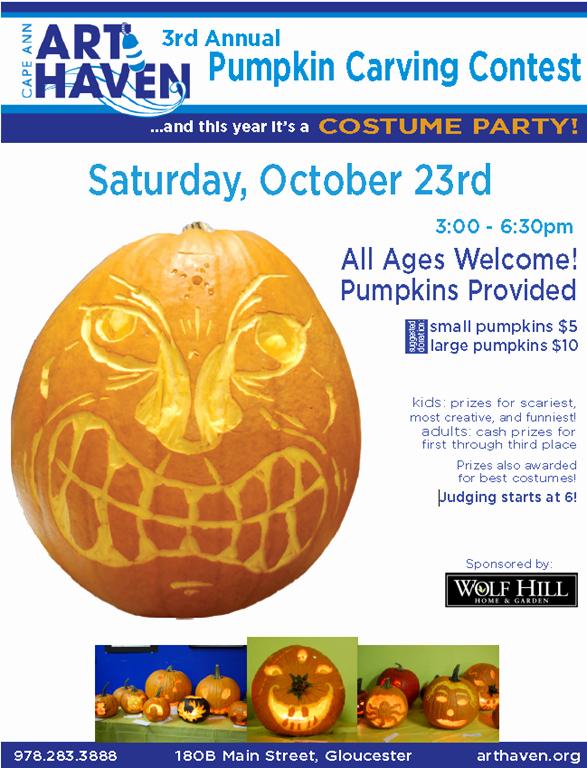 Pumpkin Carving Contest Flyer Template New Art Haven's Third Annual Pumpkin Carving Contest and