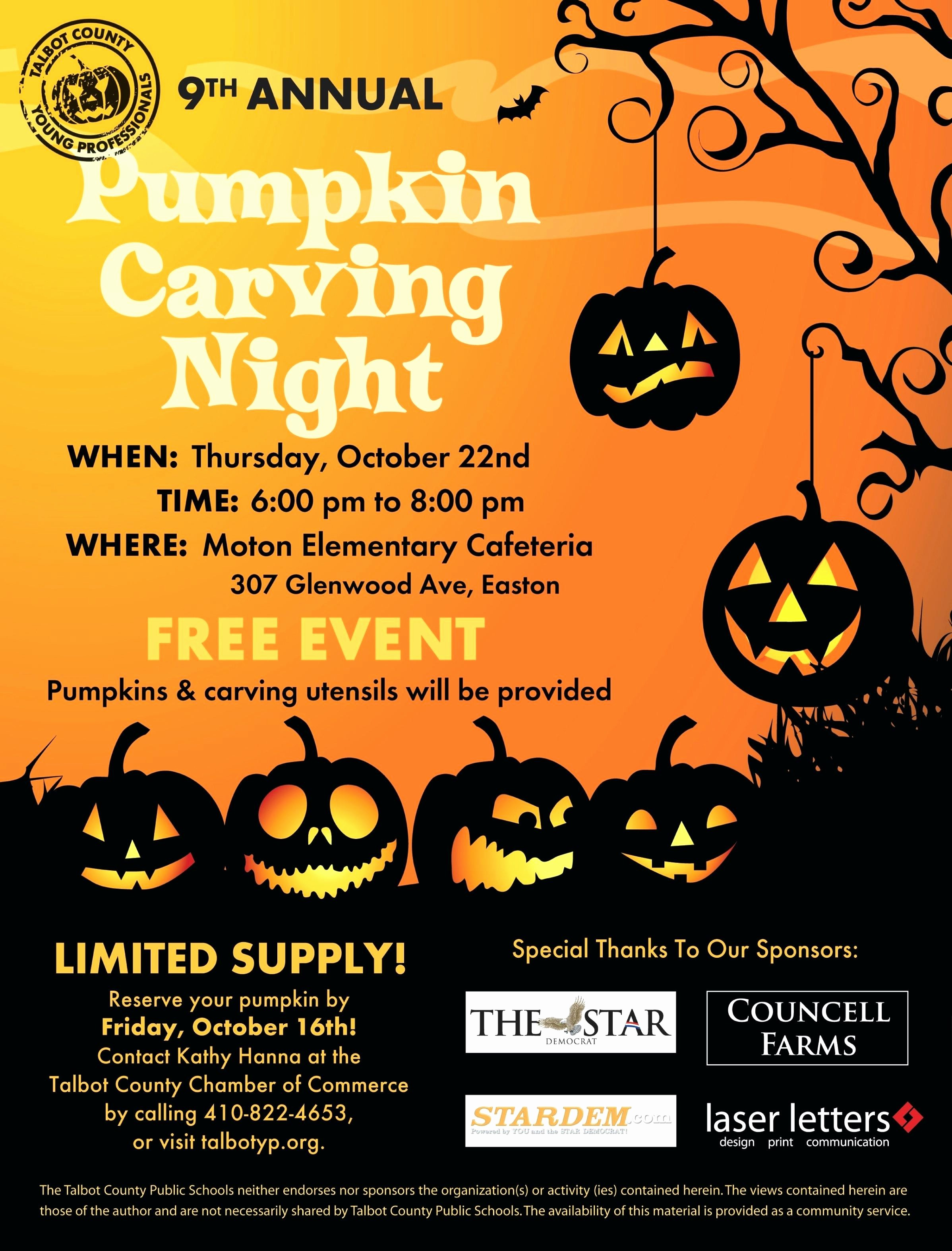 Pumpkin Carving Contest Flyer Template New Template Pumpkin Carving Contest Flyer Template Night