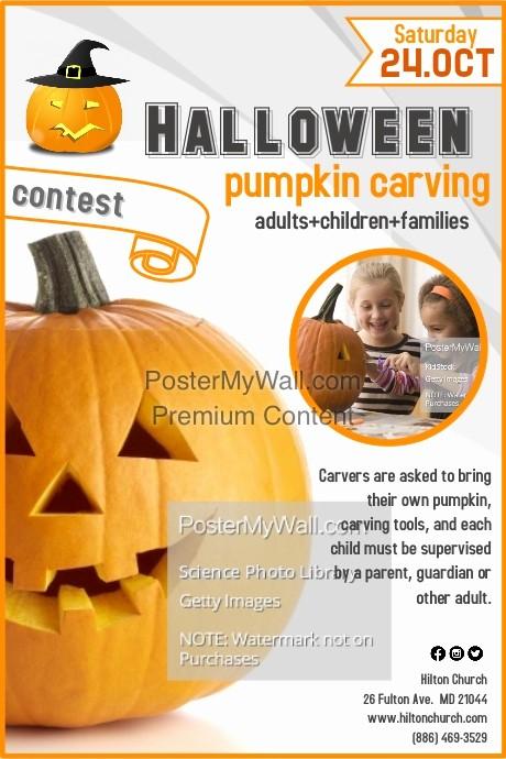Pumpkin Carving Contest Flyer Template Unique Pumpkin Carving Contest Template