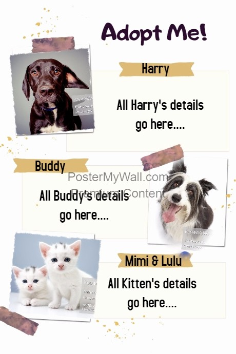 Puppies for Sale Flyer Template Awesome Pet Adoption Sitter Walker Sale event Flyer Poster