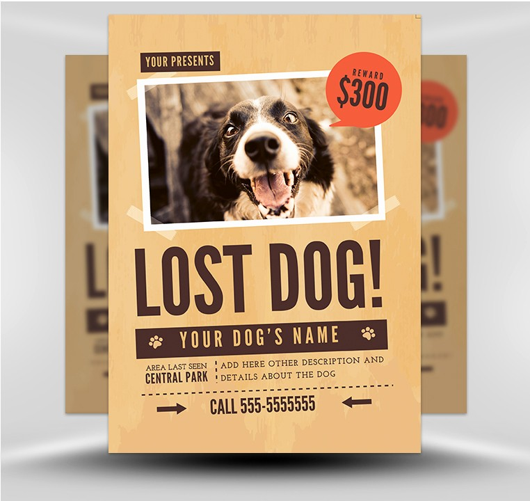 Puppies for Sale Flyer Template Beautiful Lost Dog Flyer Template 1 Flyerheroes