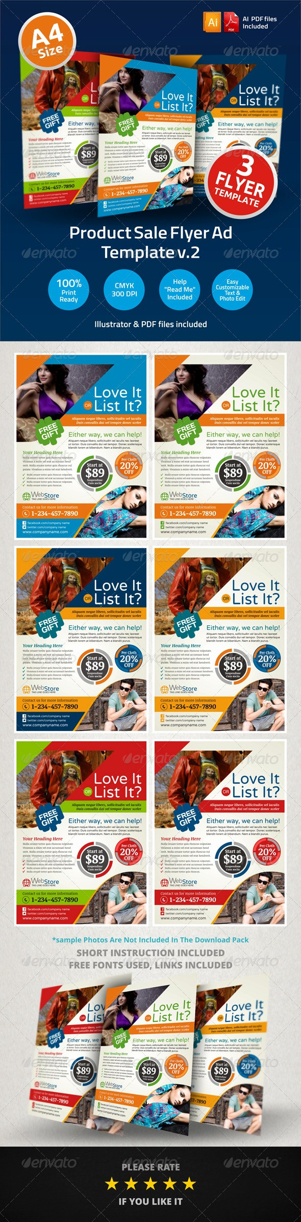 Puppies for Sale Flyer Template Beautiful Product Sale Flyer Ad Template V2