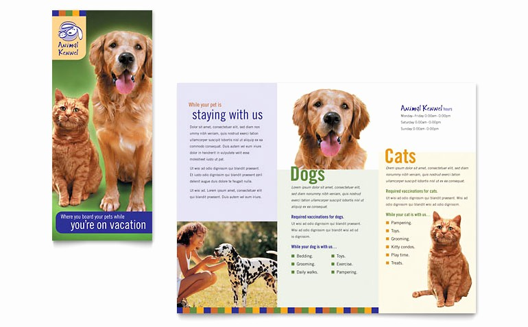 Puppies for Sale Flyer Template Best Of Dog Kennel & Pet Day Care Brochure Template Word & Publisher