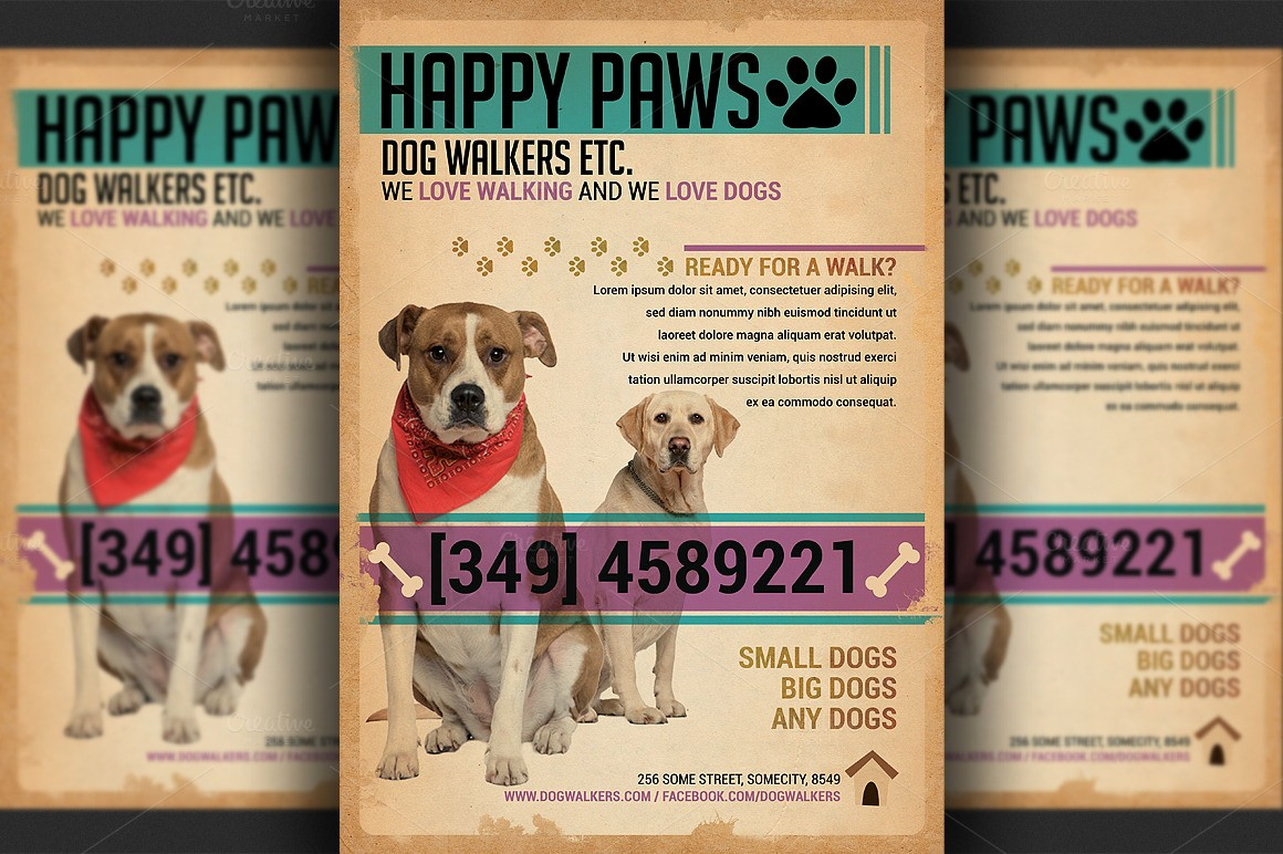 Puppies for Sale Flyer Template Elegant Dog Walkers Flyer Template Flyer Templates On Creative