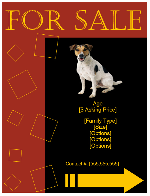 Puppies for Sale Flyer Template Luxury Puppy for Sale Flyer Templates Ktunesound