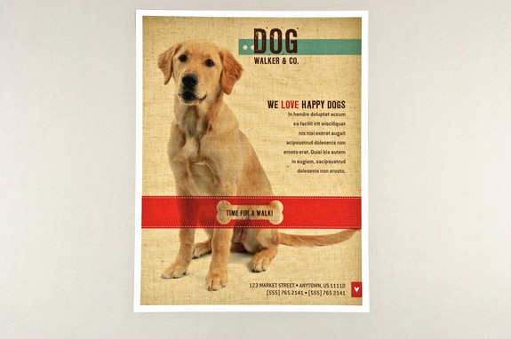 Puppies for Sale Flyer Template Unique Dog for Sale Flyer Template Friendly Dog Walking Flyer